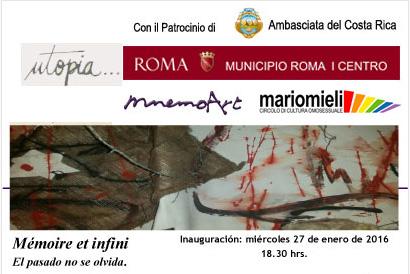 Mémoire et infini, Galerie Utopia, Rome