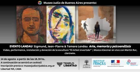Musée Juif de Buenos Aires – Evento Landau «Art, Mémoire et Psychanalyse»